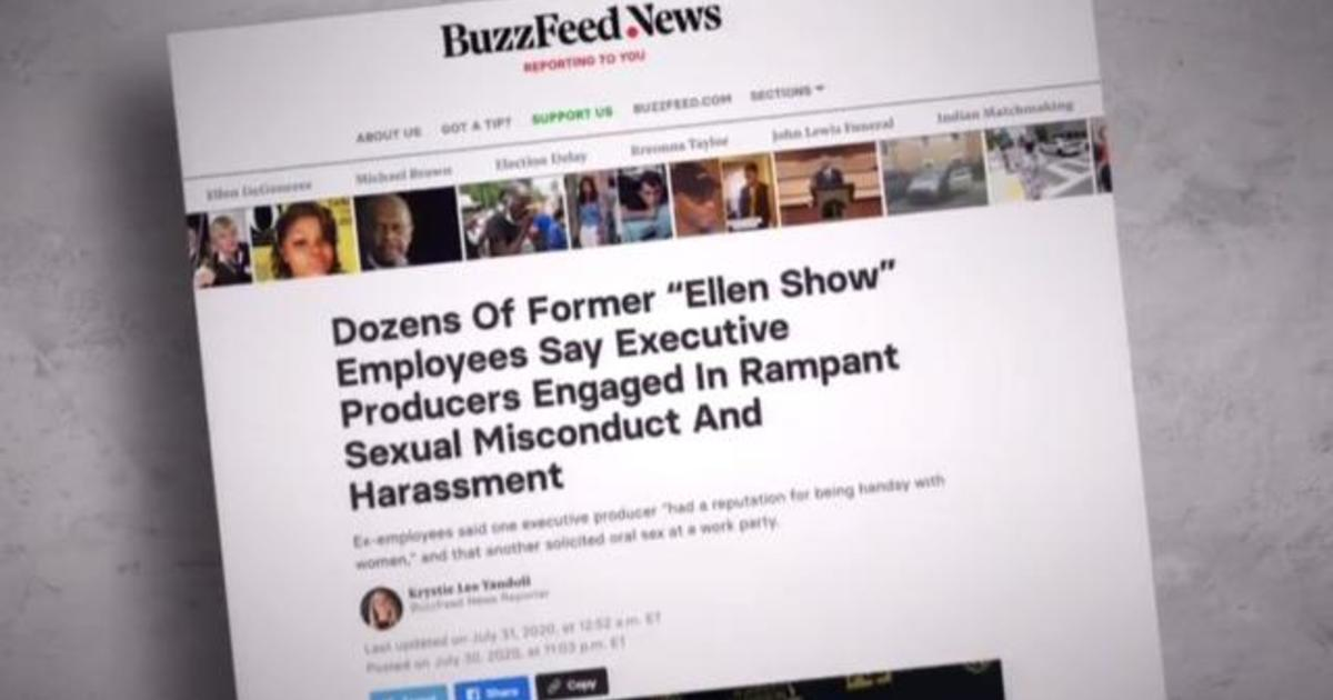 """BuzzFeed News probe reveals accusations of """"sexual misconduct and harassment"""" at """"Ellen"""" show"""