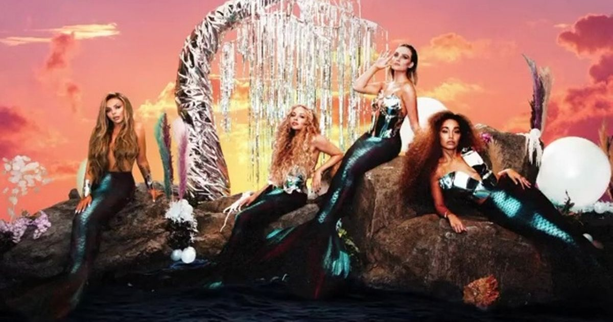 Jesy Nelson goes topless as Little Mix stars morph into mermaids in sexy shoot