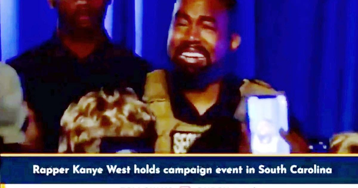 Kanye West confesses 'I almost killed my daughter' as he sobs at campaign rally