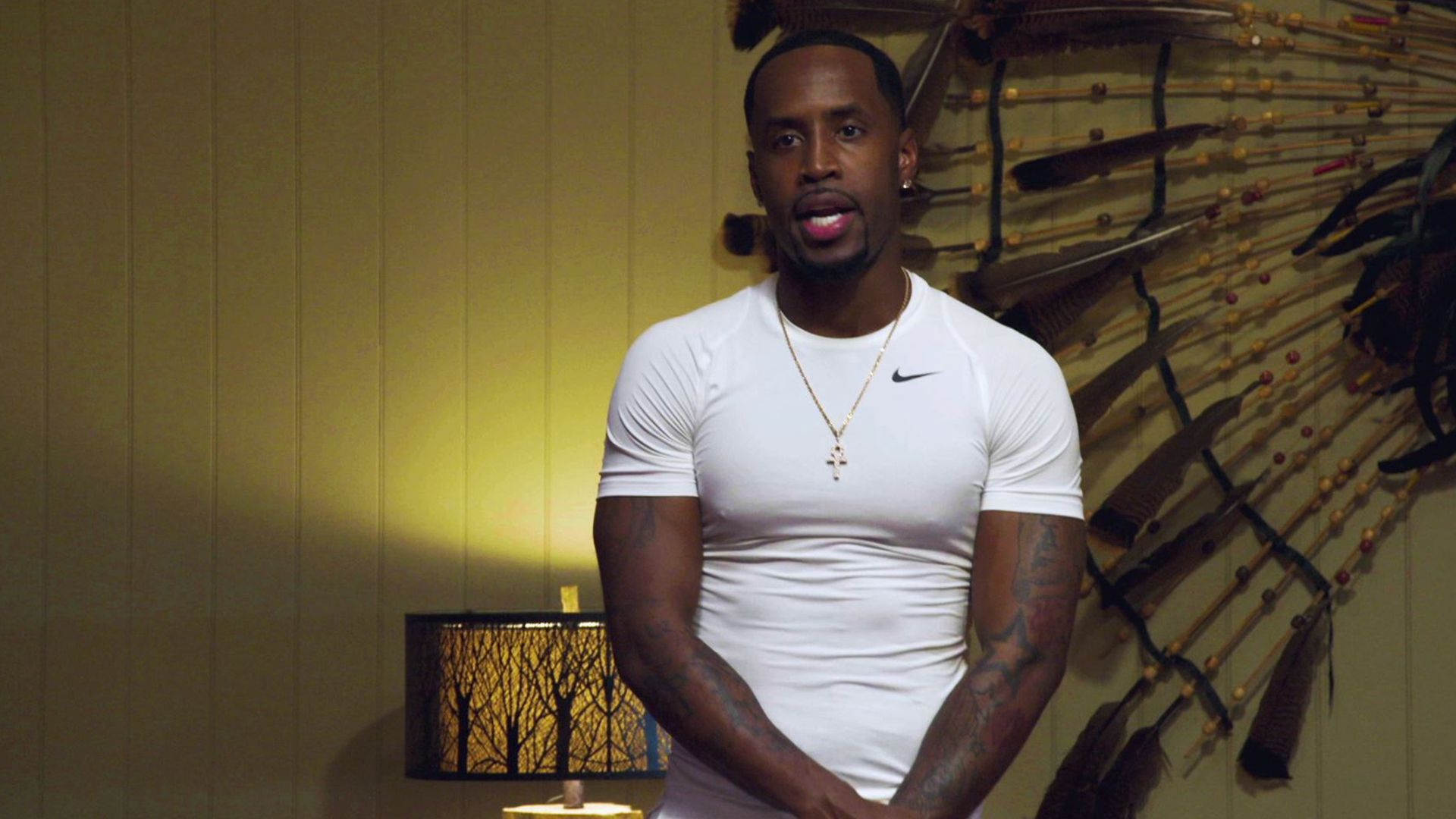 Safaree Puzzles Fans With This Video In Which He's Shirtless And Watering The Garden