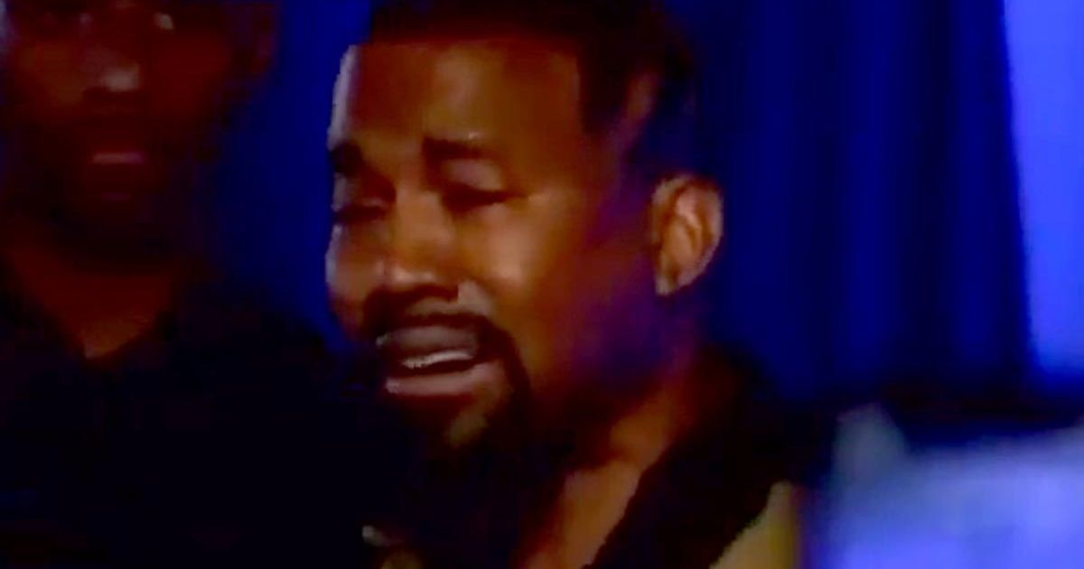 Kanye West claims father wanted him aborted in tearful campaign rally outburst