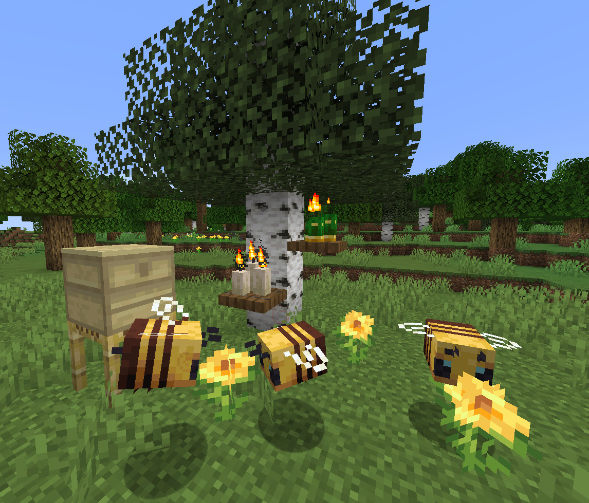 The Current Bees In Minecraft, Not Enough? The Minecraft Mod Of Buzzier Bees Is Perfect For You!
