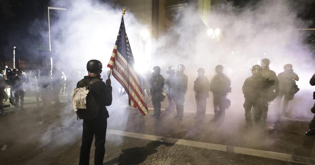 Federal agents tear-gas Portland protesters again