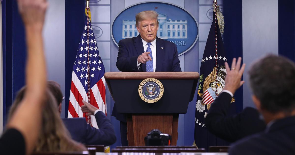 "Trump says coronavirus response is ""working out"""