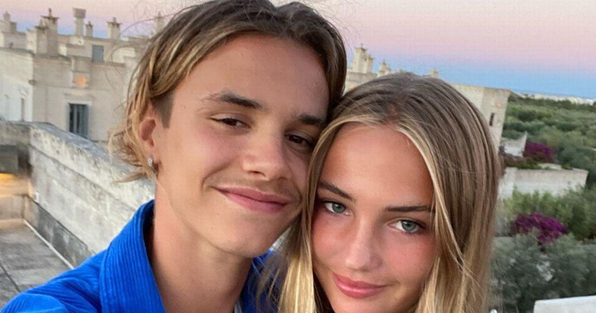 Romeo Beckham posts cute selfie with girlfriend Mia Regan during Italian holiday