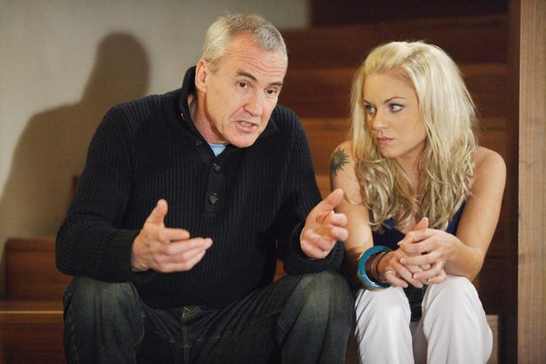 As Archie Mitchell, with Roxy Mitchell (Rita Simons) on EastEnders on 2008