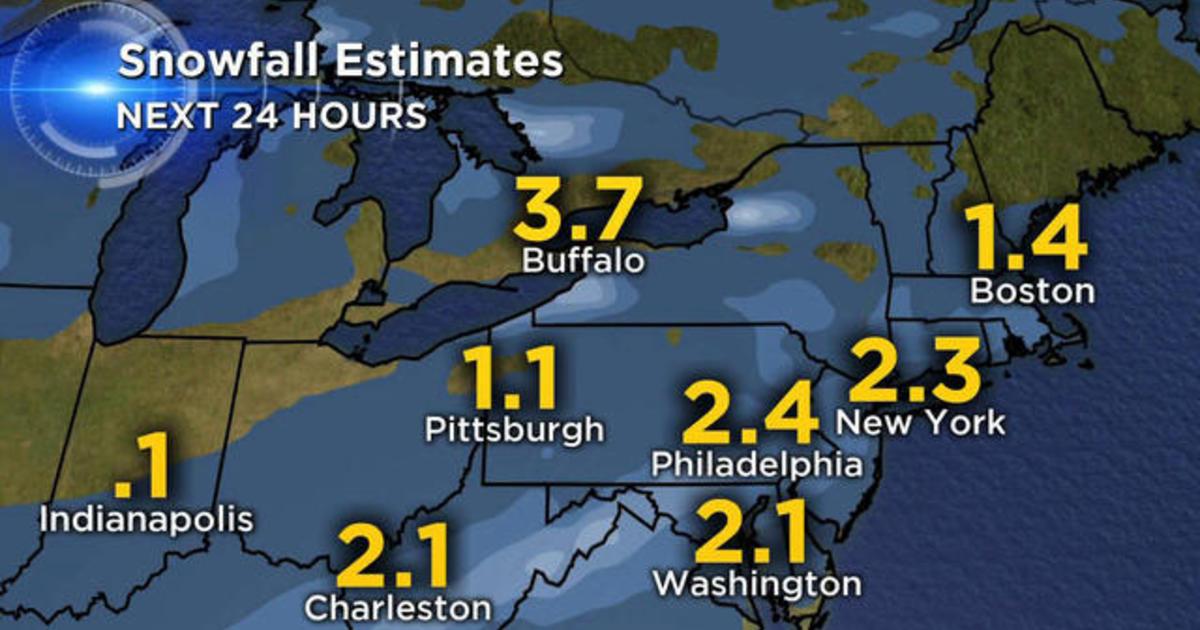 Winter storm set to slam the Northeast
