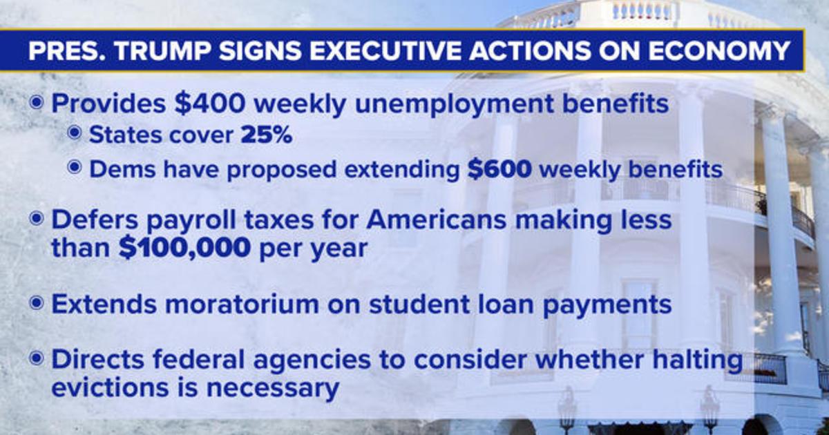 Trump signs executive actions on economic impact of coronavirus