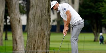 Johnson surges to PGA lead; Koepka 2 back