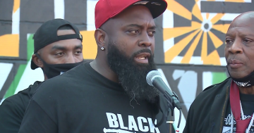 Father of Michael Brown Jr. attends Breonna Taylor protest