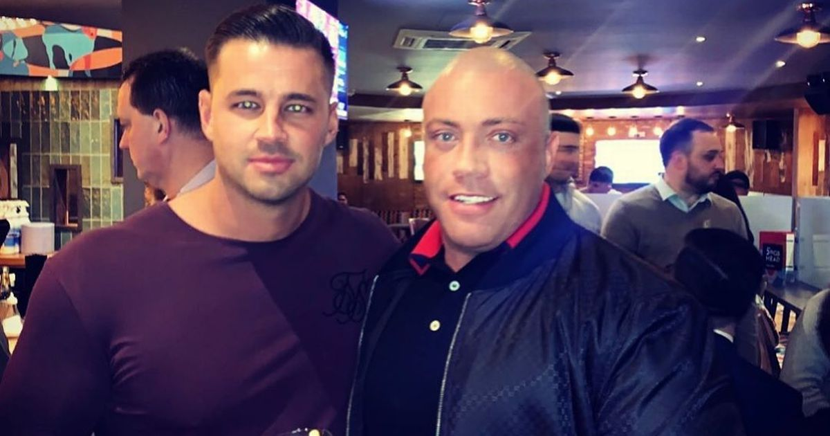 Katie Price's beau Carl Woods poses with 'drugs-gang leader' friend 'The Beast'