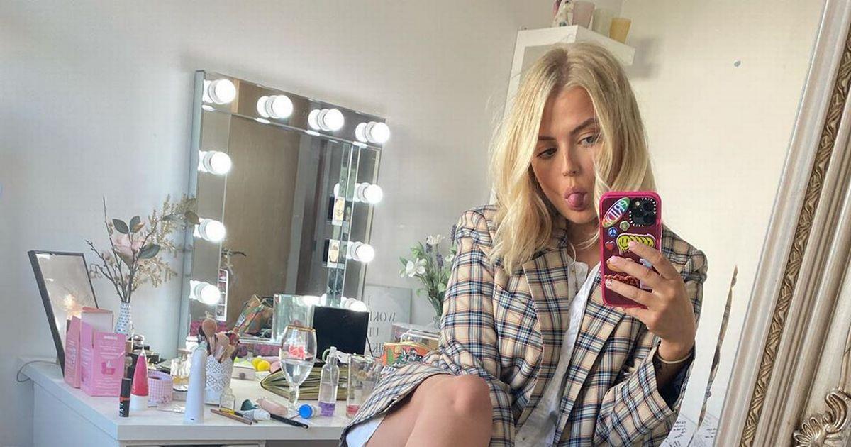 Newly-single Lucy Fallon stuns in a mini dress amid Joe Weller romance rumours