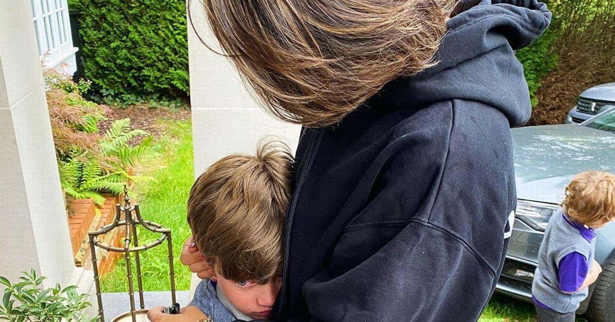 Frankie Bridge breaks down in tears as son Parker doesn't want to go to school