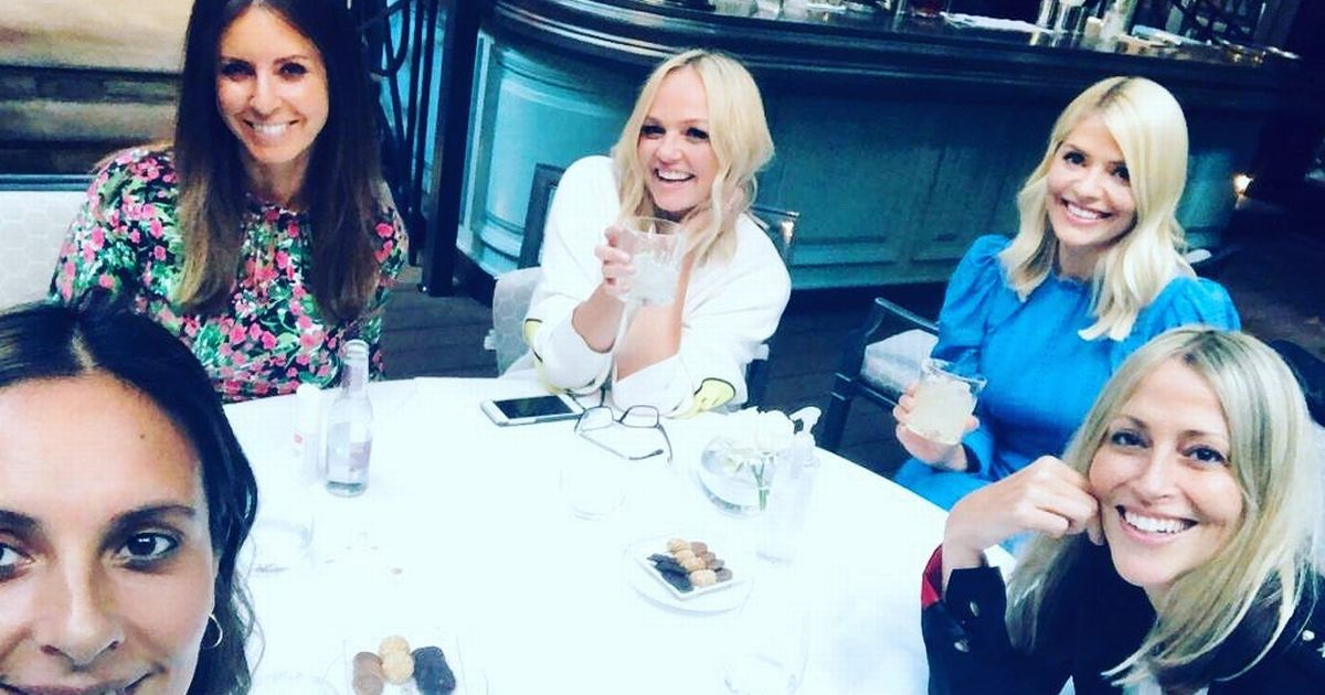 Holly Willoughby swigs margaritas with Emma Bunton on first night out in months
