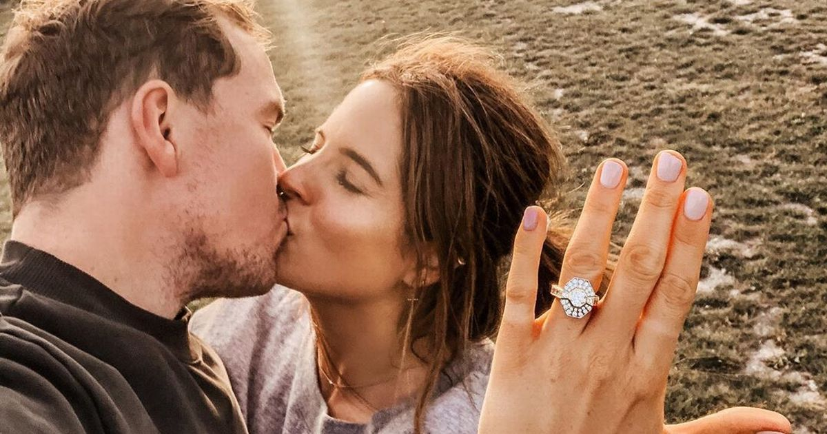 Binky Felstead engaged as beau Max pops the question with huge diamond ring