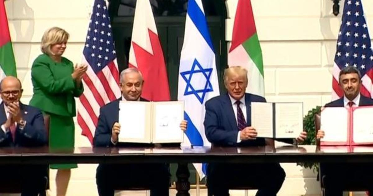 Israel signs diplomatic accord with Arab nations at White House