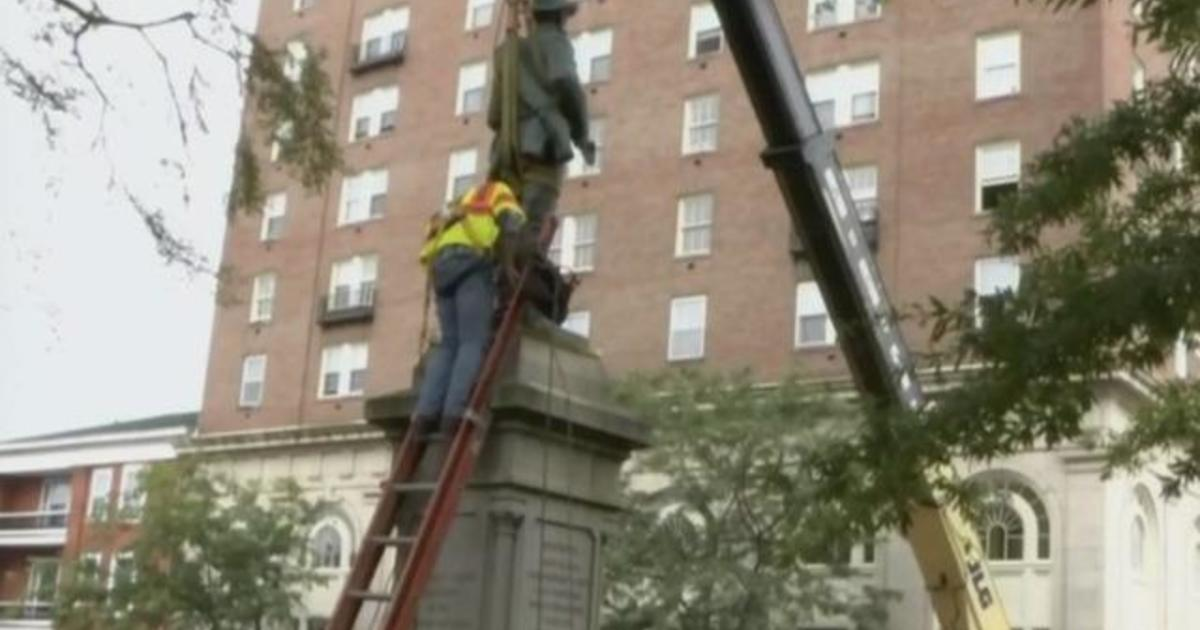 Confederate statue removed from Charlottesville, Virginia