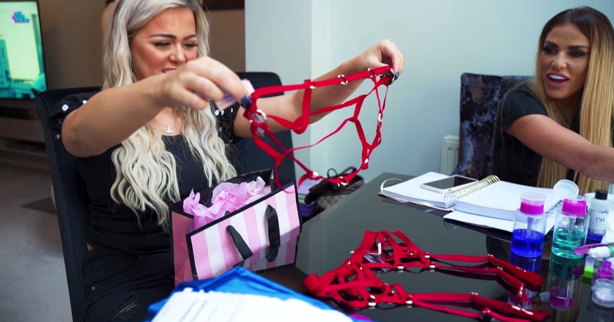 Katie Price buys crotchless knickers and suspender belt to 'satisfy' Carl Woods