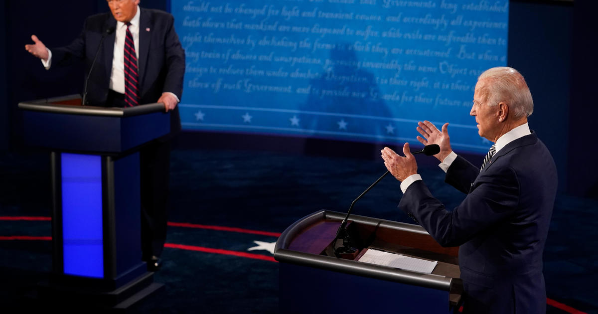 First presidential debate — fact checking Trump and Biden