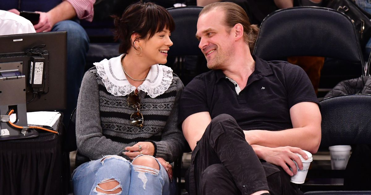 Lily Allen and David Harbour's romance as they marry in secret Vegas wedding