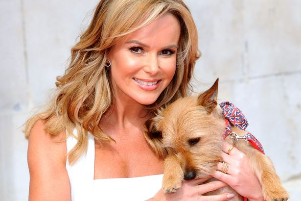 Amanda Holden with her dog Rudy