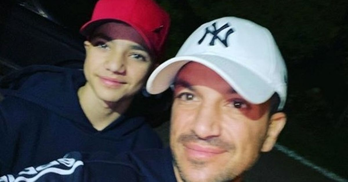 Peter Andre's son Junior 'gags' when asked to copy his dad's 90's hairstyle