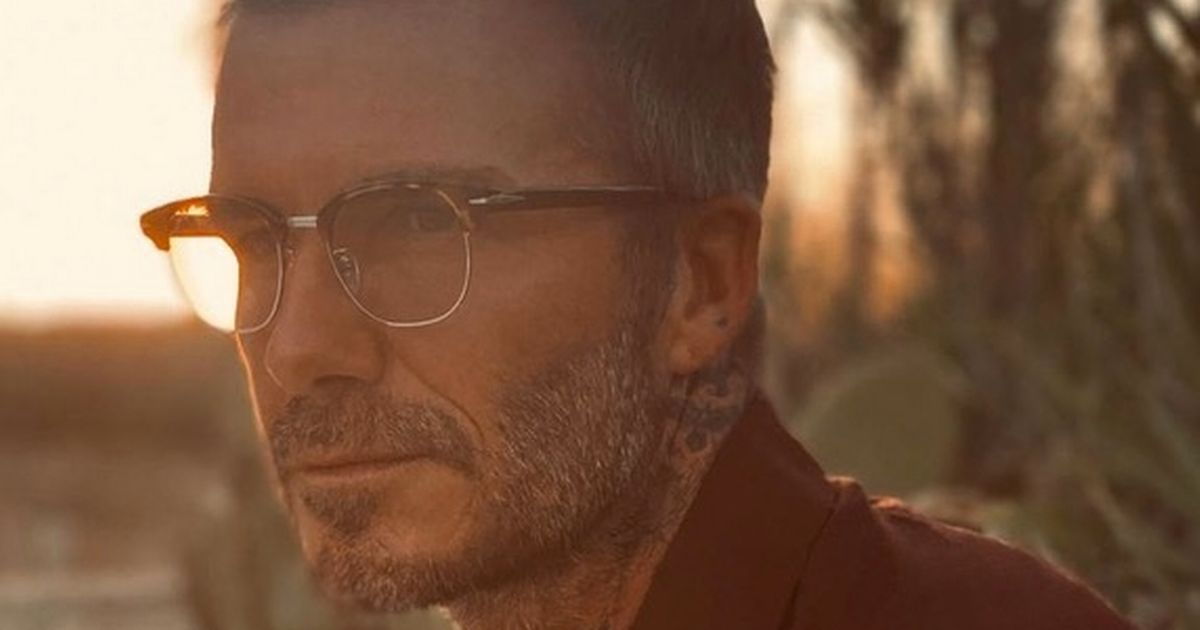 David Beckham shows off his specs appeal as he smolders in pair of smart glasses