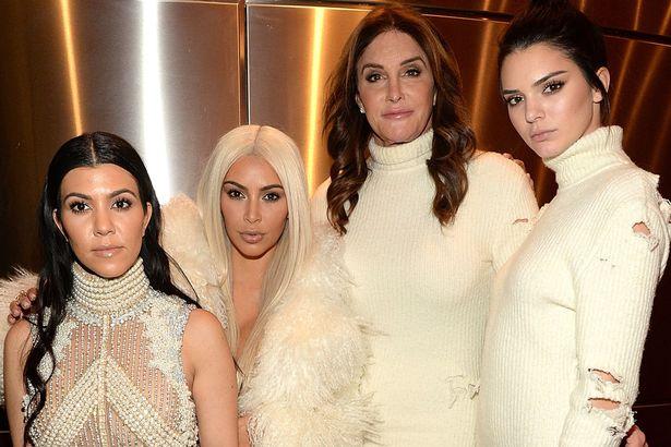 Khloe Kardashian, Kris Jenner, Kendall Jenner, Kourtney Kardashian, Kim Kardashian West, North West, Caitlyn Jenner and Kylie Jenner attend Kanye West Yeezy Season 3 at Madison Square Garden
