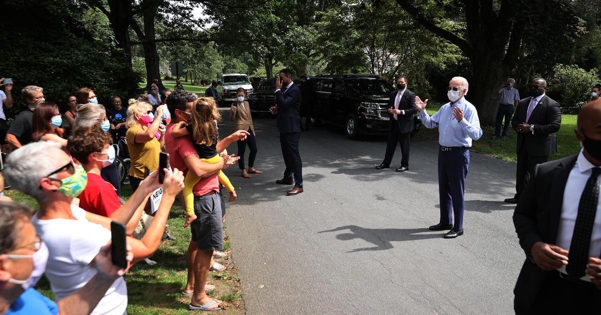 Biden says he would take COVID-19 vaccine