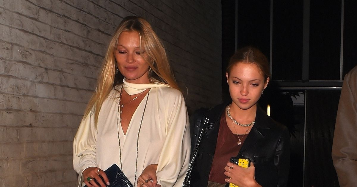 Kate Moss' daughter Lila, 17, is famous mum's spitting image at posh London bash