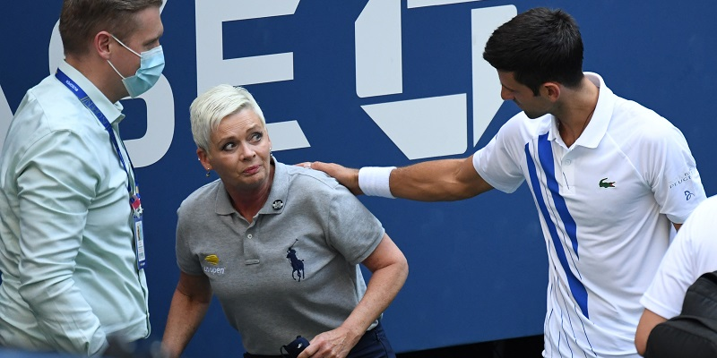 Novak Djokovic out of U.S. Open after hitting judge with ball