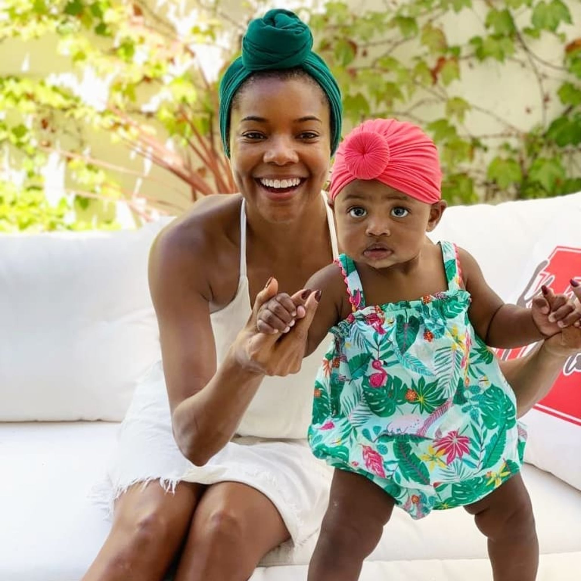 Gabrielle Union's Video With Baby Kaavia At The Pool Will Make Your Day