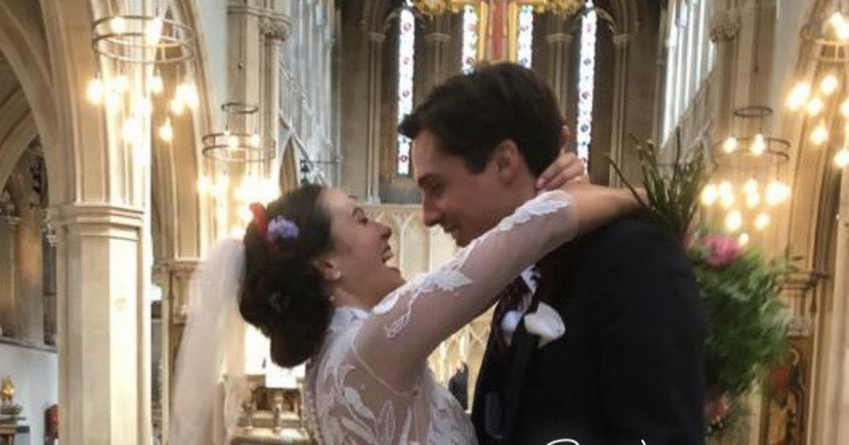 Downton Abbey star Jessica Brown Findlay marries in stunning surprise ceremony