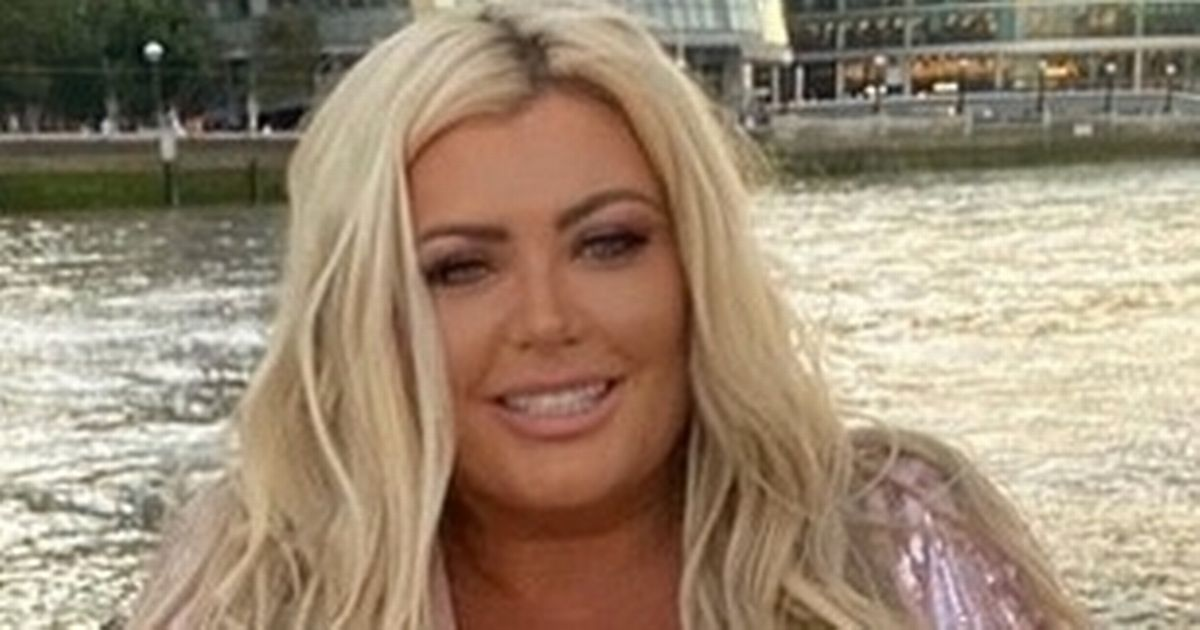 Gemma Collins shows off weight loss in slinky dress while sipping champagne