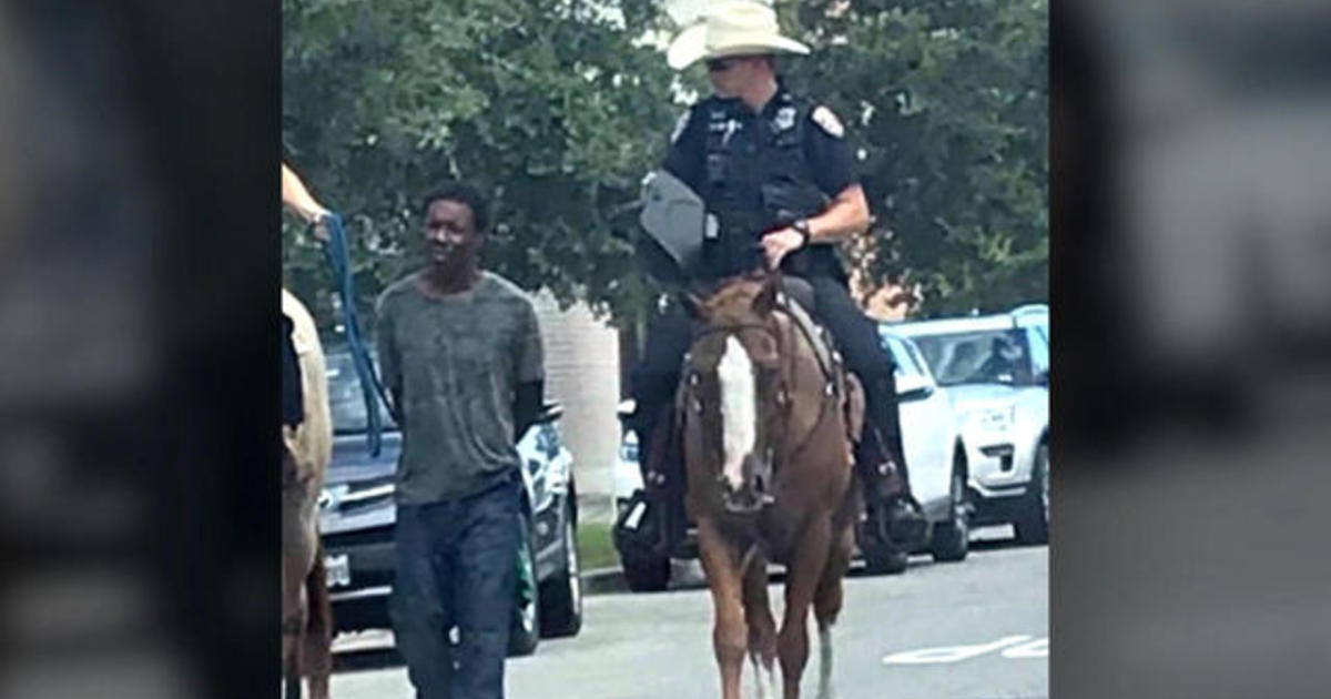 Black man led by rope by cops on horseback suing for $1 million