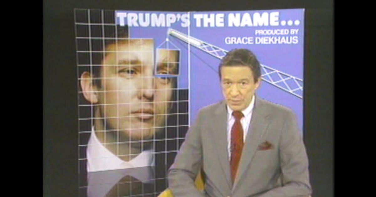 Donald Trump's first time on 60 Minutes