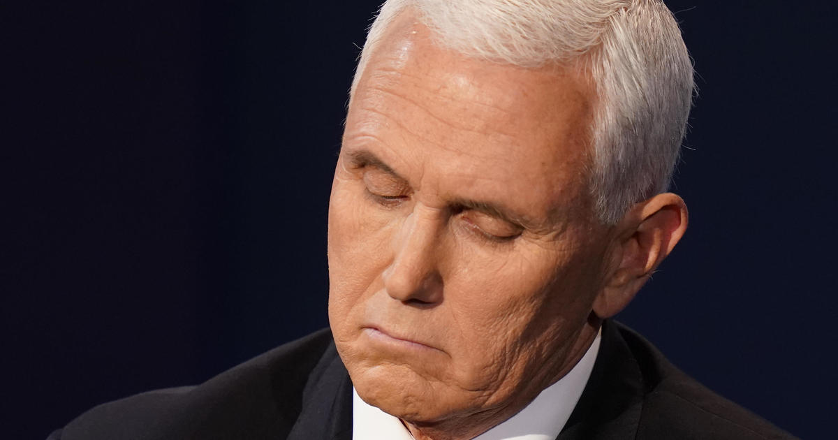 Fly lands on Pence's head at debate