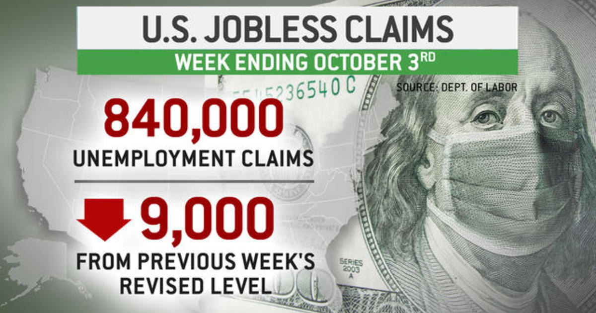 840,000 Americans filed new unemployment claims last week