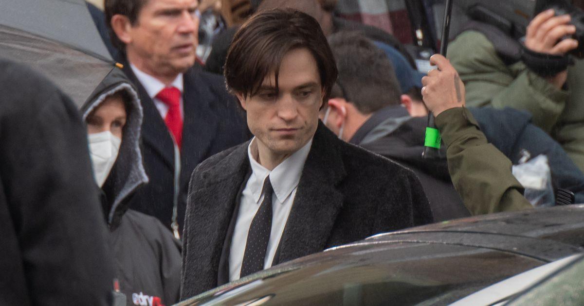Gaunt Robert Pattinson seen on Batman set for first time since Covid shutdown