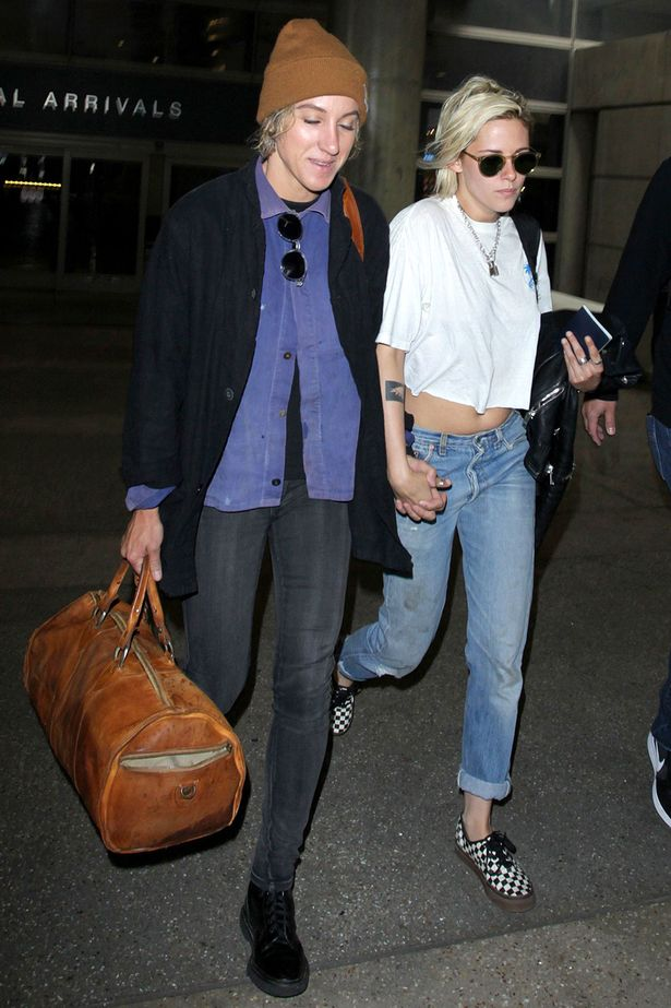 Alicia Cargile and Kristen Stewart arrive at LAX