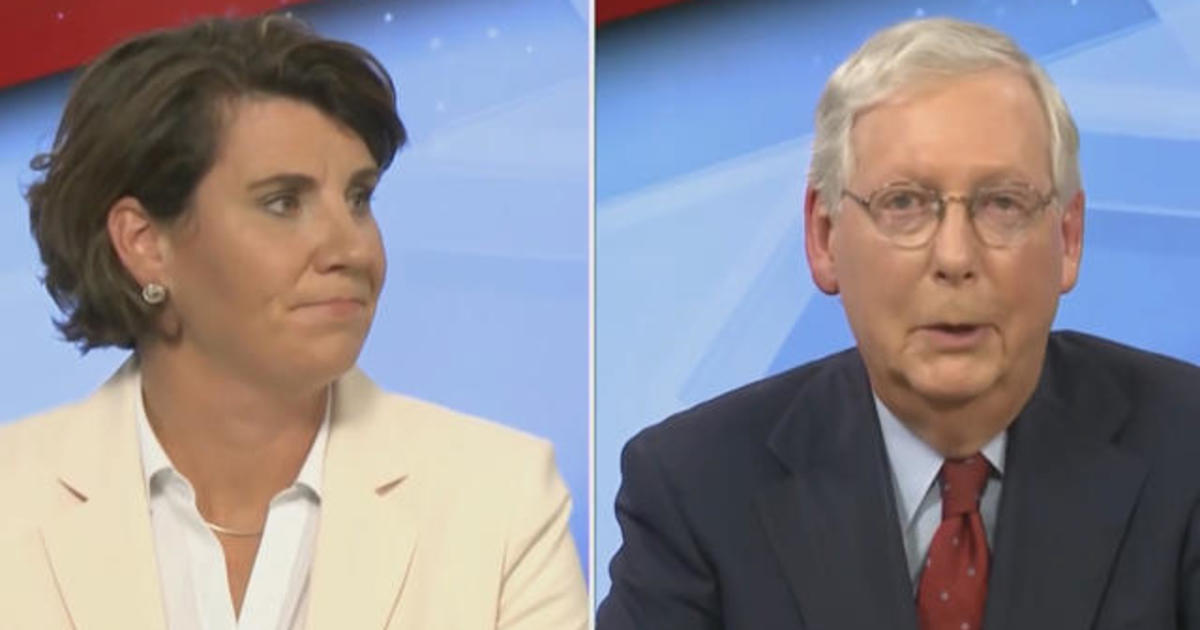 McConnell and McGrath face off in Kentucky Senate debate