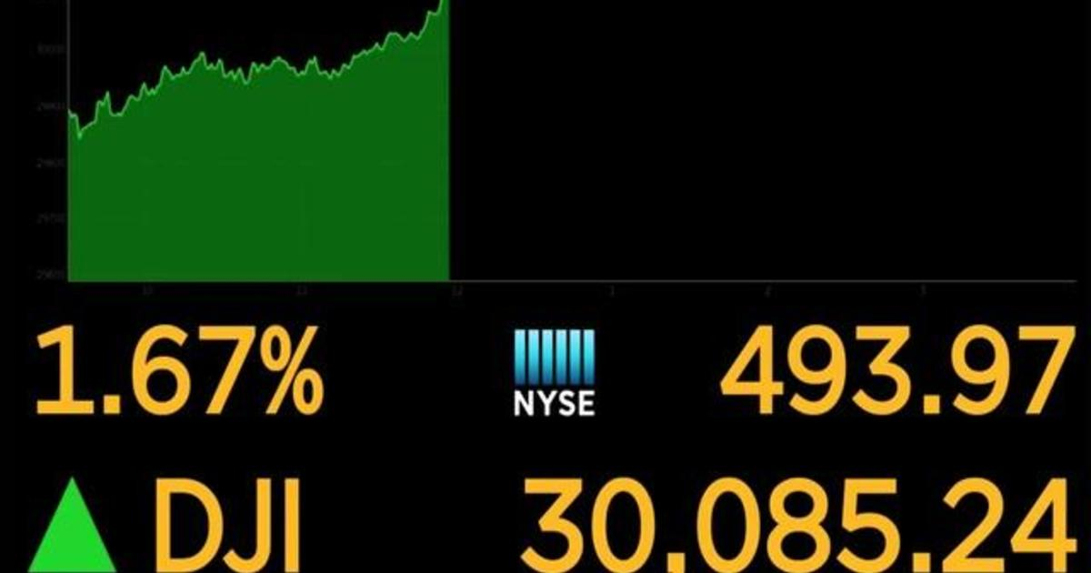 Dow Jones hits milestone 30,000 points as Trump signals exit from White House