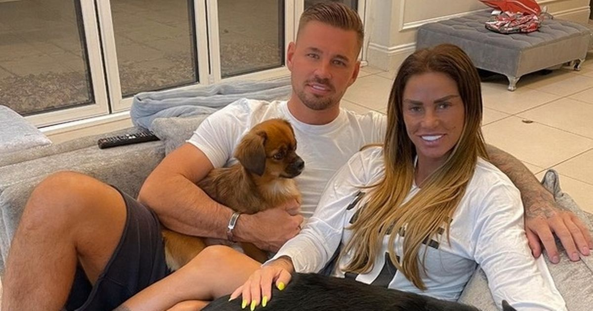 Katie Price and Carl Woods give glimpse into night in after six months together