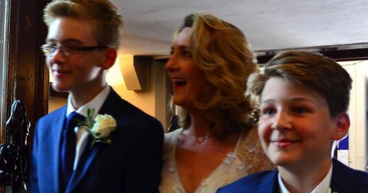 Victoria Derbyshire's teen son shares emotional throwback to her wedding day