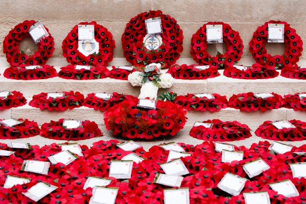 Val paid her respects on Armistice Day and Remembrance Sunday as the country stood silent at 11am