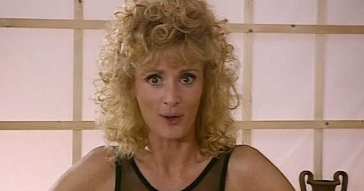 I'm A Celeb Bev Callard's forgotten fitness DVDs – lycra, epic perms & 90s vibes