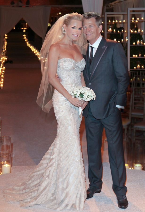 Canadian born music producer David Foster, the 16 time Grammy winning producer-songwriter and Verve Label group CEO is shown at his wedding to former Ford model Yolanda Hadid in 2011
