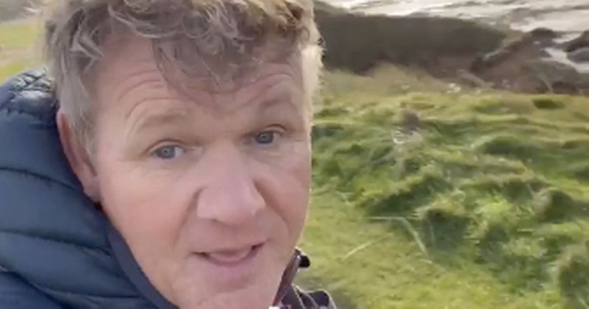 Gordon Ramsay shows off stunning coastal views from his £6m mansion in Cornwall