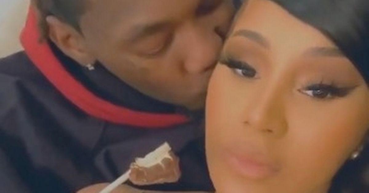 Cardi B cuddles up to Offset in steamy reconciliation after calling off divorce