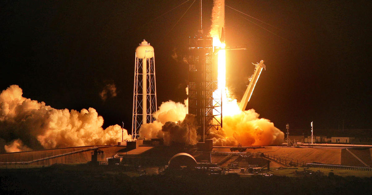 SpaceX Crew Dragon capsule chases down space station
